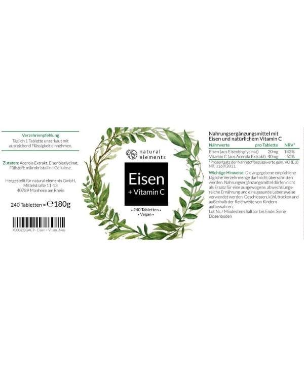 Natural Element Complément Alimentaire Fer Bio Maroc